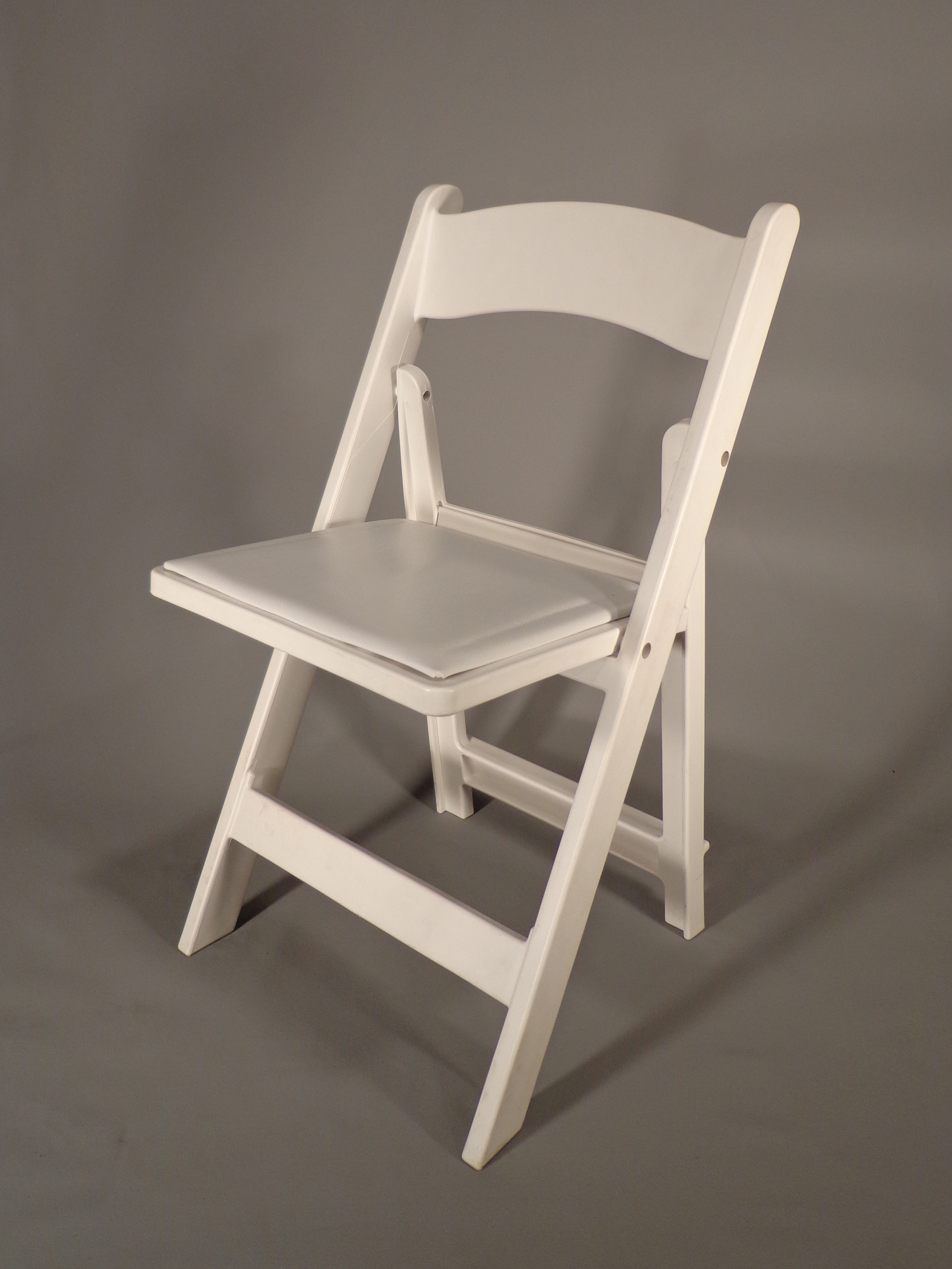 Resin folding chairs - Resin Folding White Wood Chair White Web