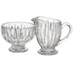 HL sugar and creamer set glass