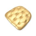 tufted cushion gold